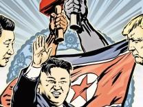 Korea China USA; Buch zwei Illu