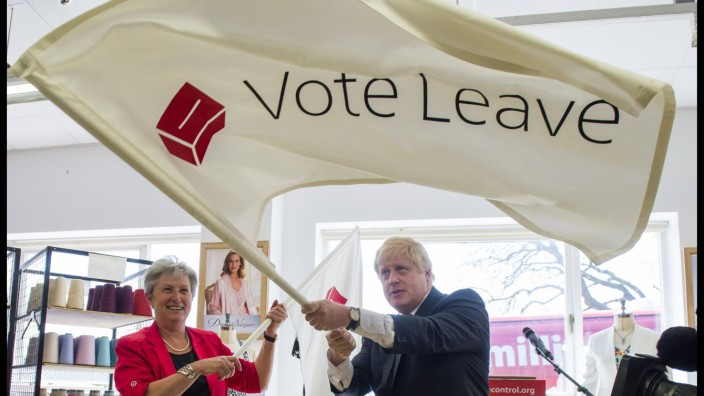 16 05 2016 London United Kingdom Boris Johnson campaigning for Vote Leave ahead of the EU refer