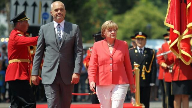 German Chancellor Angela Merkel expected for visit to Tirana