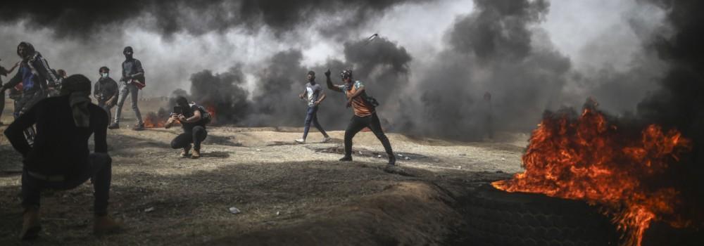 Proteste an der Grenze zu Israel im Gazastreifen