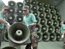 Südkorea Nordkorea Lautsprecher Beschallung Propaganda