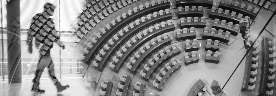 Plenarsaal des Deutsche Bundestags - die Süddeutsche Zeitung hat die Plenarprotokolle analysiert und ausgewertet.