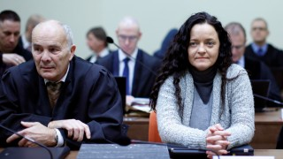 Defendant Beate Zschaepe arrives for continuation of her trial at courtroom in Munich