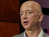 Jeff Bezos of Amazon speaks at the Bush Centers Forum on Leadership in Dallas
