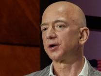 Jeff Bezos of Amazon speaks at the Bush Centers Forum on Leadership in Dallas