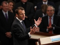 French President Emmanuel Macron Delivers An Address To Joint Meeting Of Congress