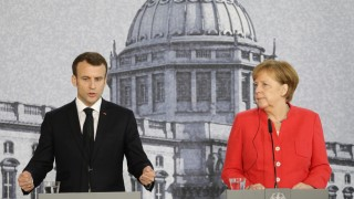 German Chancellor Angela Merkel meets French President Emmanuel Macron in Berlin