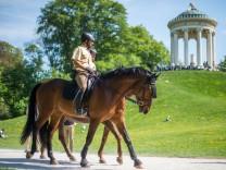 Reiterstaffel im Englischen Garten