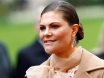 Sweden's Crown Princess Victoria attends a welcoming ceremony in Riga