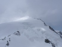 The Pigne d'Arolla mountain is pictured near Sion