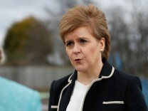 Scotland's First Minister Nicola Sturgeon speaks at the announcement that new investment has been secured for fabrication firm BiFab in Methil, Scotland