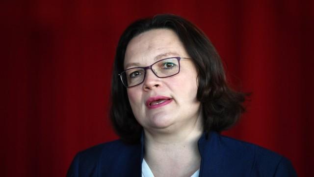 Andrea Nahles Arbeitsmarkt Versicherung Überschüsse