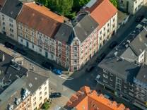 Eltingviertel im Nordviertel historisches Wohnquartier Essen Ruhrgebiet Nordrhein Westfalen Deu