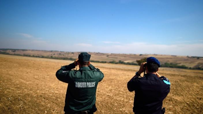 Grenze zwischen Bulgarien und Türkei
