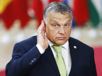 170622 BRUSSELS June 22 2017 Hungarian Prime Minister Viktor Orban arrives to attend a two