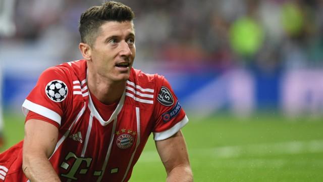 Robert Lewandowski beim Champions-League-Spiel FC Bayern gegen Real Madrid