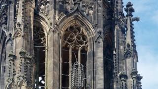DEU Deutschland Nordrhein Westfalen Münster 31 07 2016 Turm der Lambertikirche Am Turm sind d