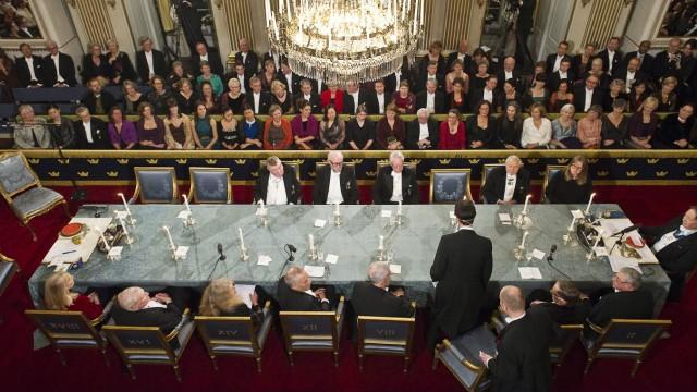 Die Schwedische Akademie in Stockholm