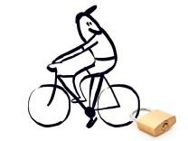 Illustration Fahrradschloss-Test