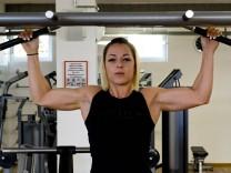 Bodybuilder Schilcher und Etesaam.