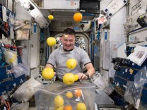 Fresh fruit for NASA's astronauts, ISS - 25 Aug 2015