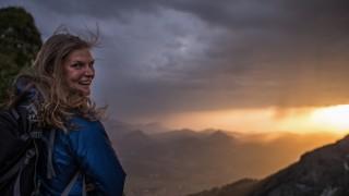 Alpenüberquerung E5: Bergführerin Nina Ruhland bei der Alpenquerung von Oberstdorf nach Meran