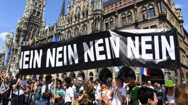 Demonstration gegen das neue bayerische Polizeiaufgabengesetz