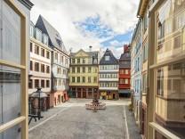 Frankfurt am Main, Dom Roemer Areal, Huehnermarkt, Altstadt-Quartier - PRESSSEBILD