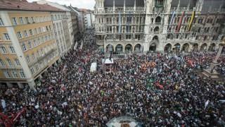 Großdemo gegen Polizeiaufgabengesetz, Marienplatz
