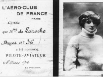 Elise Roche aka Raymonde de Laroche Flugschein Pilotin