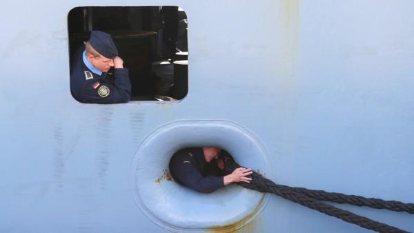 Fregatte 'Sachsen' kehrt vom Mittelmeer-Einsatz zurück