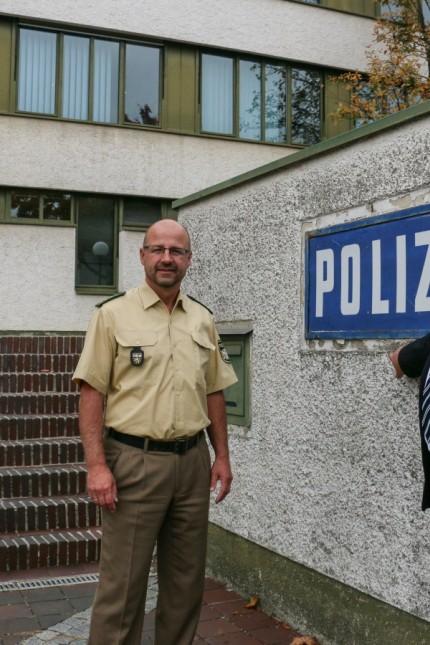 Besuch bei der PI Dachau; Martin Güll bei der PI Dachau zu Besuch