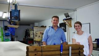 Beim Hochseilgarten-Hersteller Kristallturm ist Heinz Tretter Chef, Sara Kern leitet das Marketing.