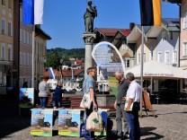 Info-Stand Bürgerbegehren Bichler Hof in Bad Tölz