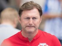 Ralph Hasenhüttl, Trainer von RB Leipzig, am letzten Spieltag der Fußball-Bundesliga 2018.