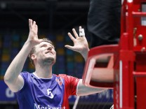 Deutschland Frankfurt 18 04 2018 Volleyball Hessen 1 Bundesliga Herren Saison 2017 2018; Lukas Bauer Volleyball Herrsching