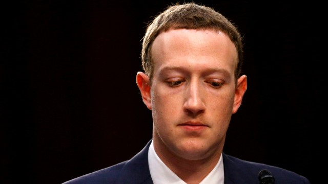 FILE PHOTO: Facebook CEO Zuckerberg testifies before a U.S. Senate joint hearing on Capitol Hill in Washington