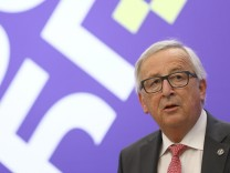 European Commission President Juncker addresses a news conference at the EU-Western Balkans Summit in Sofia