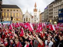 Meisterfeier des FC Bayern München auf dem Münchner Marienplatz, 2017