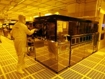 File photo of an employee inside a clean room of German semiconductor manufacturer Infineon in Regensburg