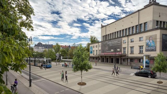 Umgestaltung der Isar: Die Ludwigsbrücke könnte bald verkehrsberuhigt sein und Fußgängern und Radfahrern mehr Platz bieten.