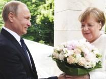 Kanzlerin Merkel trifft PrâÄ°sident Putin
