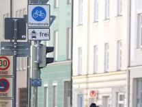 Fahrradstraße in München, 2007