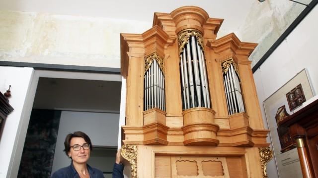 Alte Orgel im Heimatmuseum; Die alte Orgel von St. Nikolaus