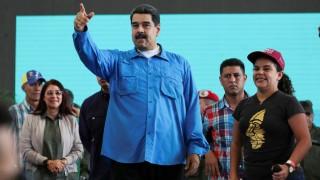 Venezuelas Präsident Nicolas Maduro gestikuliert während einer Veranstaltung mit Unterstützern in der Hauptstadt Caracas.