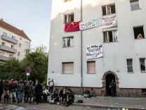 Von einem Bündnis besetztes Haus in Berlin