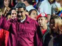 Nicolás Maduro, der Präsident von Venezuela, erklärt sich zum Sieger der Präsidentschaftswahl.