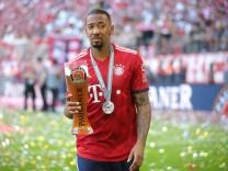 Jerome Boateng vom FC Bayern München nach dem Bundesliga-Spiel 2018 gegen den VfB Stuttgart