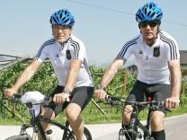 Dienstag 25 05 2010 Die Deutsche Nationalmannschaft im Trainingslager in Eppan in Südtirol zur Vor