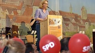 Natascha Kohnen ist SPD-Spitzenkandidatin für die Landtagswahl in Bayern.